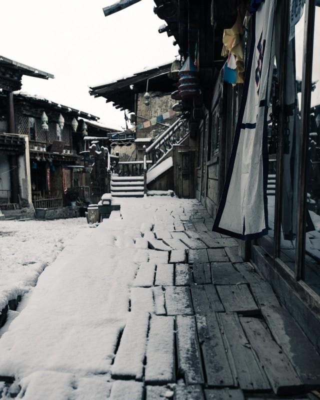 雪侵中甸古鎮