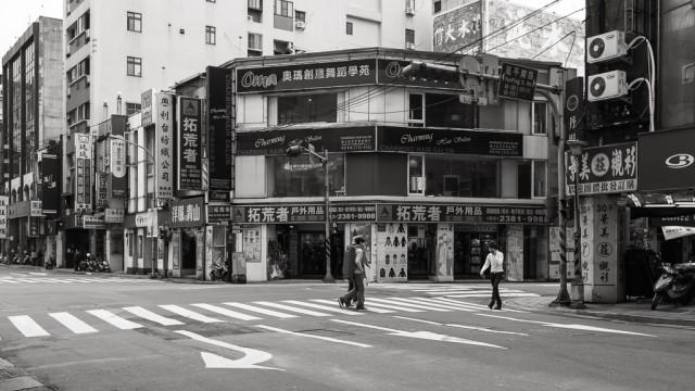 清晨。台北街頭